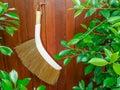 Broom hanging, stock photo