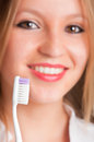 Brossage de dents Image stock