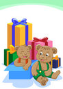 Brother bear gift Royalty Free Stock Image