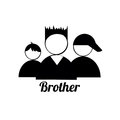 Brother icons on white background Stock Photography