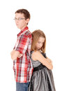 Brother and sister mad. Royalty Free Stock Photo
