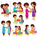 Brother and Sister in Raksha Bandhan Royalty Free Stock Photo