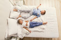 Brother and sister sleeping at home Royalty Free Stock Photo