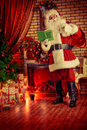 Brought presents santa claus gifts for christmas Stock Image