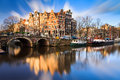 Brouwersgracht Amsterdam Royalty Free Stock Photo