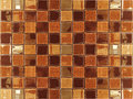 Browan shade leather ceramic mosaic tile background for bathroom Royalty Free Stock Images
