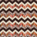 Brown abstract and animal zigzag vector seamless background Royalty Free Stock Photo