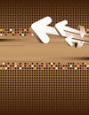 Brown abstract background and arrows Royalty Free Stock Photo