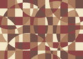 Brown abstract background geometrical in retro colors Royalty Free Stock Photography