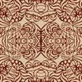 Brown art deco seamless pattern Stock Photo