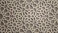 Brown background . Islamic ornament vector , persian motiff . 3d ramadan islamic round pattern elements . Geometric
