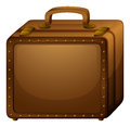 A brown baggage illustration of on white background Royalty Free Stock Photography