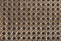 Brown basket weave pattern Royalty Free Stock Photo