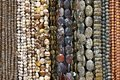 Brown beads necklaces Royalty Free Stock Photo