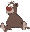 Brown Bear. Cartoon Royalty Free Stock Image