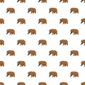 Brown bear pattern seamless