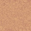Brown and beige wavy shapes vector seamless pattern Royalty Free Stock Photos