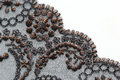 Brown and black flower lace material texture macro shot flowers leaves Stock Photos