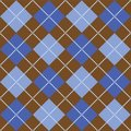 Brown and Blue Argyle Royalty Free Stock Photos