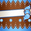 Brown & blue banner inspired by Indian mehndi desi Stock Image