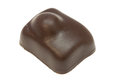 Brown bonbon a delicious against a white background Royalty Free Stock Photo