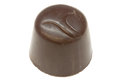 Brown bonbon a delicious against a white background Stock Image