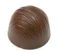 Brown bonbon a delicious against a white background Stock Photo