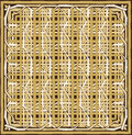 Brown border frame knitting pattern Royalty Free Stock Photo