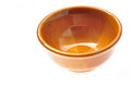 Brown bowl isolated Royalty Free Stock Photography