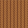 Brown braids background, seamless pattern included Royalty Free Stock Image