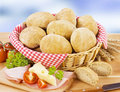 Brown bread rolls Royalty Free Stock Photo