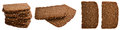 Brown Bread on white Royalty Free Stock Photo