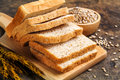 Brown bread and white bread Royalty Free Stock Photo