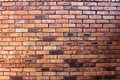 Brown brick wall for background setting Royalty Free Stock Photo