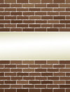 Brown brick wall with place for text modern light background Royalty Free Stock Image