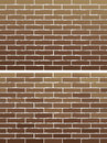 Brown brick wall two background with old Royalty Free Stock Photography