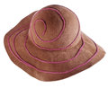 Brown broad brim felt hat isolated on white background Royalty Free Stock Photo