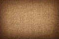 Brown burlap jute canvas background with shade Royalty Free Stock Photo