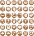 Brown buttons Royalty Free Stock Photos