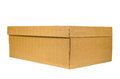 Brown cardboard shoe box Royalty Free Stock Photo