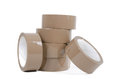 Brown cardboard tape Royalty Free Stock Photo