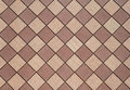Brown Checkered wall horizontal Stock Photography