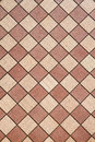 Brown Checkered wall vertical Royalty Free Stock Image