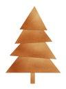 Brown christmas tree Stock Image
