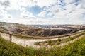 Brown coal mine Royalty Free Stock Photo