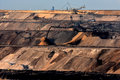 Brown coal open cast mining Royalty Free Stock Photo