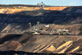 Brown coal open mining Royalty Free Stock Photo
