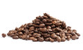 Brown coffee beans isolated on white background Royalty Free Stock Photo