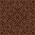 Brown colors flower and plant pattern design korean traditional series Stock Photo