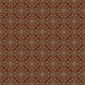 Brown colors flower and plant pattern design korean traditional series Royalty Free Stock Photo